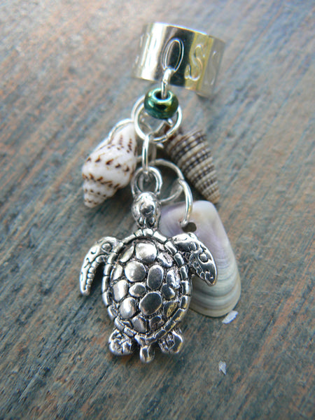 shell and sea turtle ear cuff sea turtle seashells cuff in beach mermaid boho gypsy hippie hipster beach and fantasy style