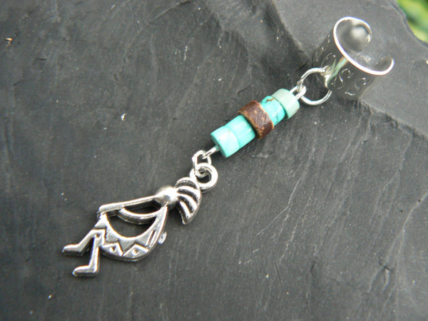 tribal  kokopelli kachina ear cuff kachina charm cross cuff in tribal gypsy hippie hipster and native american inspired style