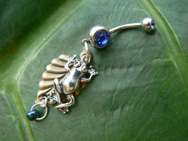 tree frog belly ring leaf tree frog in nature boho gypsy hippie belly dancer and hipster style