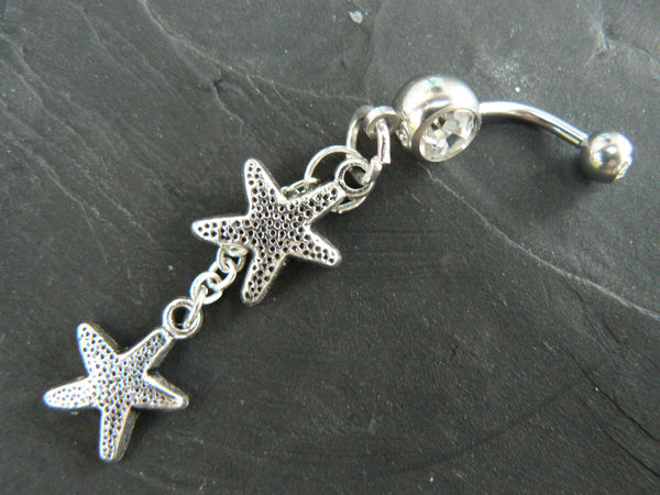 double starfish belly ring