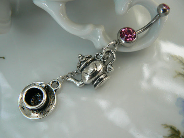 tea for two belly ring teapot cup and saucer in beach summer boho gypsy hippie belly dancer and hipster style