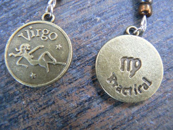 Whats your sign Virgo belly ring zodiac sign charms in belly dancer fantasy gypsy hippie morrocan boho and hipster style