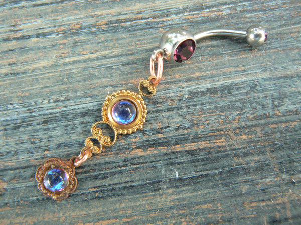 bermuda blue belly ring