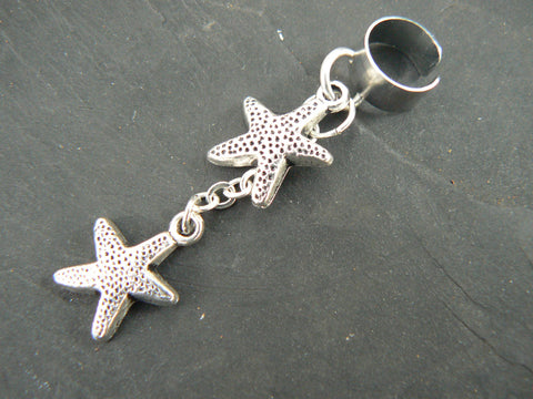 double starfish ear cuff starfish
