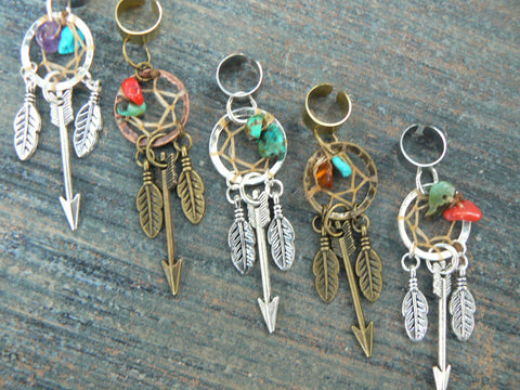 arrow dreamcatcher ear cuff tribal inspired ONE