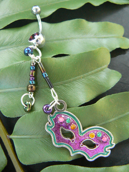 mardi gras mask  belly ring mask peacock beads  boho gypsy hippie mardi gras party masquarade belly dancer fantasy hipster and fantasy style