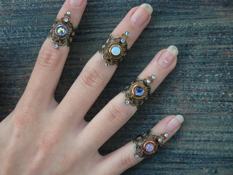 knuckle ring, armor ring,  midi ring, nail ring ,claw ring,choose one