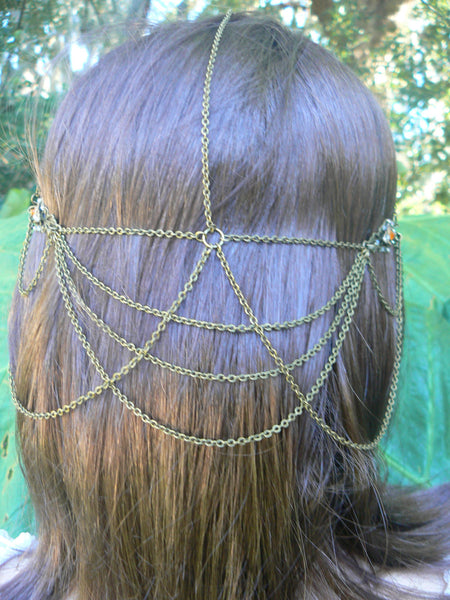 Renaissance halo cosplay head chain for Renaissance festival medieval tribal fusion