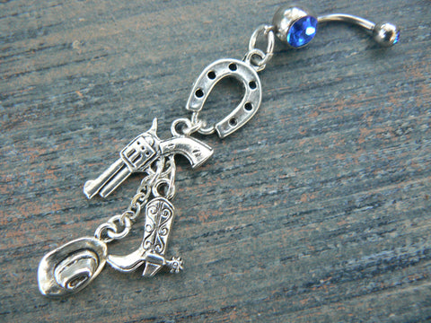country western belly ring, cowgirl belly ring