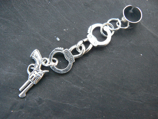 handcuffs ear cuff,  outlaw ear cuff,country western cuff