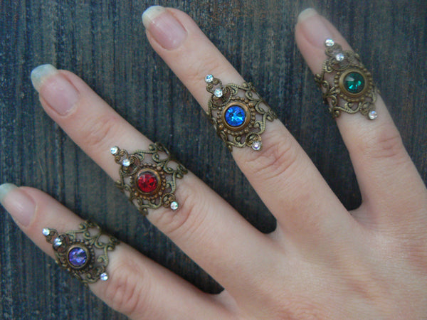 Armor Ring,midi rings ,ONE , Steampunk knuckle ring ,nail ring, claw ring,victorian, moon goddess