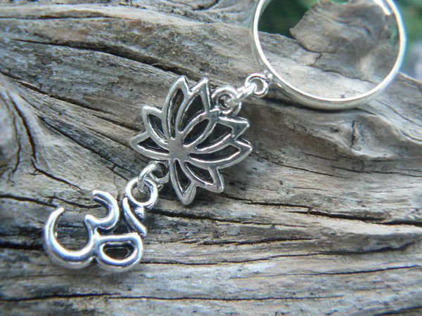 ohm lotus flower ring lotus flower om ring in yoga new age meditation zen hipster boho gypsy hippie style