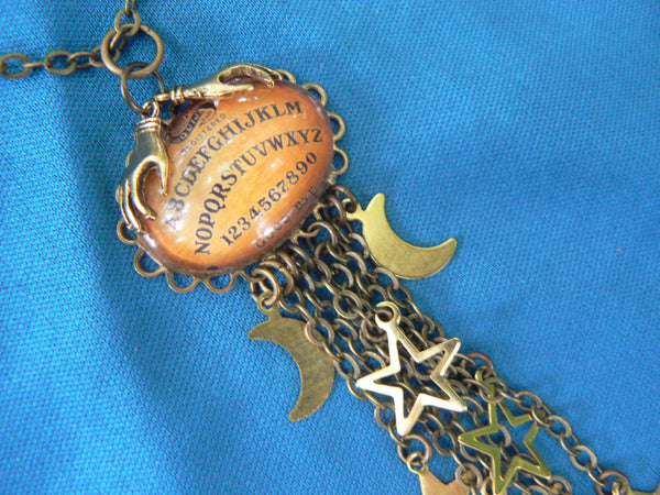 galaxy ouija necklace ouiji Galaxy moon stars magic with pagen spirit pendant  supernatural in gypsy style