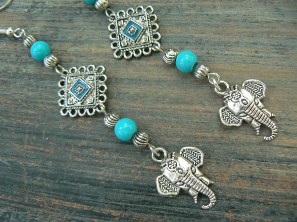 sacred elephant earrings Bali style earrings spiritual earrings ganesha earrings yoga buddha new age boho tribal beach hipster style