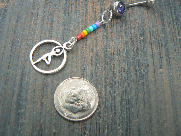 yoga chakra belly ring meditation new age  7 chakra  spiritual energy belly dancer beach boho gypsy and hipster style
