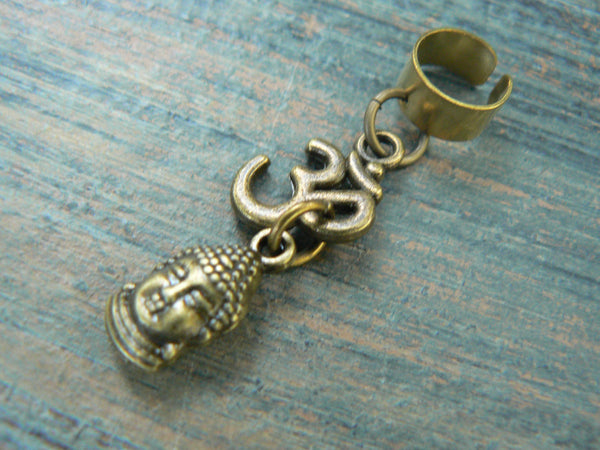 Ohm buddha ear cuff  in antique brass
