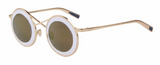 Fashion Women Round Sunglasses Twin-Beams - BisCloset