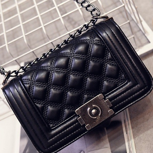 Quilted Plaid Cross Body Bag - BisCloset