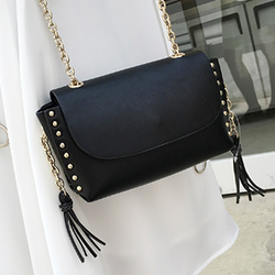 Chain Rivet Tassel Messenger Bag - BisCloset