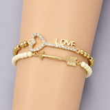 Fashion Key Love Arrow Charm Bracelet - BisCloset