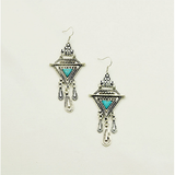 Vintage Jewelry silver plated Turquoise Drop Earrings - BisCloset