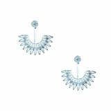 Fashion Silver sector design Stud Earring - BisCloset