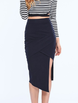 Black Sexy Pencil Skirt BisCloset
