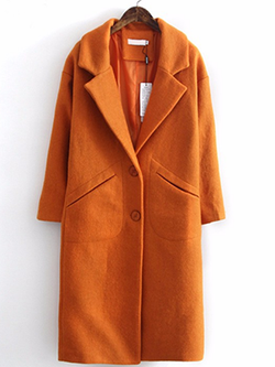 Fashion Casual Long Woolen Coat BisCloset