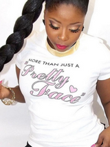 "T Shirt Women Pink MORE THAN JUST A ""Pretty Face"" - BisCloset"