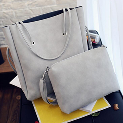 Fashion Women Leather Handbags Large Shoulder Bag 2 Pcs - BisCloset