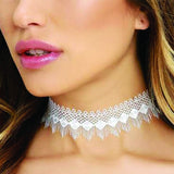 White Black Lace Design Choker Woman Necklaces Fashion Jewelry - BisCloset