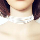 Fashion terciopelo leather DIY choker necklace - BisCloset
