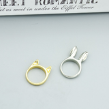 Fashion Women Cute Animal ear finger ring Set - BisCloset