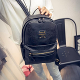 Women Leather Backpacks Serpentine Snake Daily Bags - BisCloset