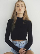Knitted Crop Top Autumn Pullover - BisCloset