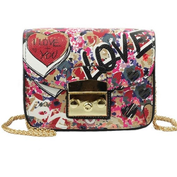 Love Graffiti Mini Flap Bag - BisCloset