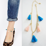 Women Fashion Anklet Tassel Multi-color chain Jewelry - BisCloset