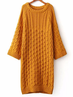 Casual Knitted Long Winter Dress BisCloset