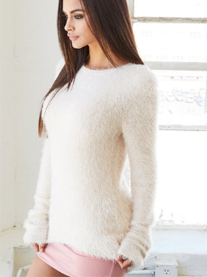 Autumn Soft Hairy Woman Pullover Warm Sweater - BisCloset