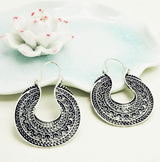 Fashion silver Vintage drop earring - BisCloset