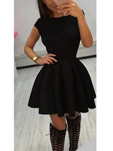 Sexy Mini Skater Vintage Dress - BisCloset