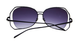 Women Cat Eye Sunglasses Hollow Out Alloy Big Frame - BisCloset