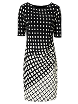 Sexy Black White Bodycon Party Dress BisCloset