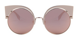 Women Cat Eye Sunglasses Round Alloy Frame - BisCloset