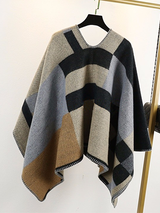 Cozy Poncho Cashmere Wool Coat - BisCloset