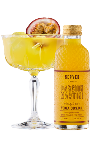 SERVED by Nohrlund Passion Martini