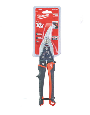 "MILWAUKEE 10"" METAL SNIPS LEFT CUT 260MM 48224010"