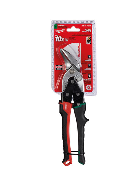 MILWAUKEE OFFSET RIGHT CUT METAL SNIPS 48224022
