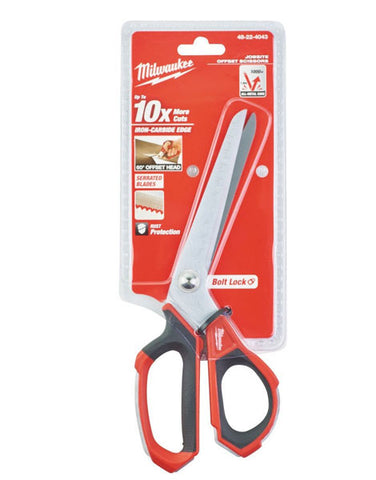 MILWAUKEE OFFSET JOBSITE SHEAR CUTTER SNIPS SCISSORS 48224043