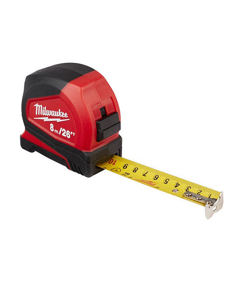 Milwaukee 8m/26ft Pro Compact Tape Measure 48226626